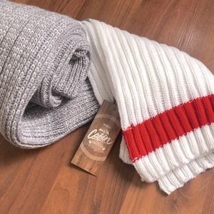 Classic Red White and Grey Scarf